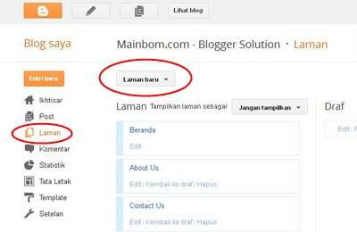 Cara Mudah Memasang Daftar Isi atau Sitemap di Blogger
