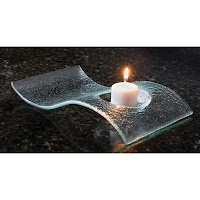 Curved Glass tealight Holder