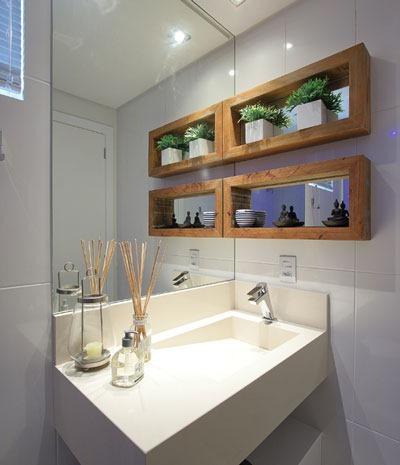 Decora o de banheiros papo de design for Estanteria sobre wc