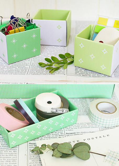desk tidy with clock. yourself#39; desk tidy boxes.