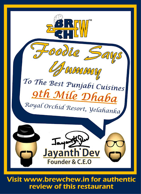 9th Mile Dhaba Award Certificate