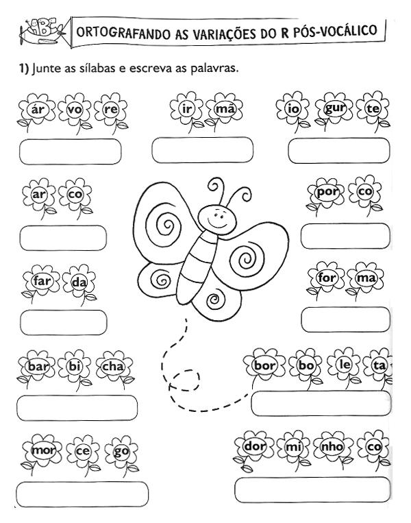 34 ATIVIDADES DE ALFABETIZAÇÃO SÍLABAS EXERCÍCIOS DESENHOS