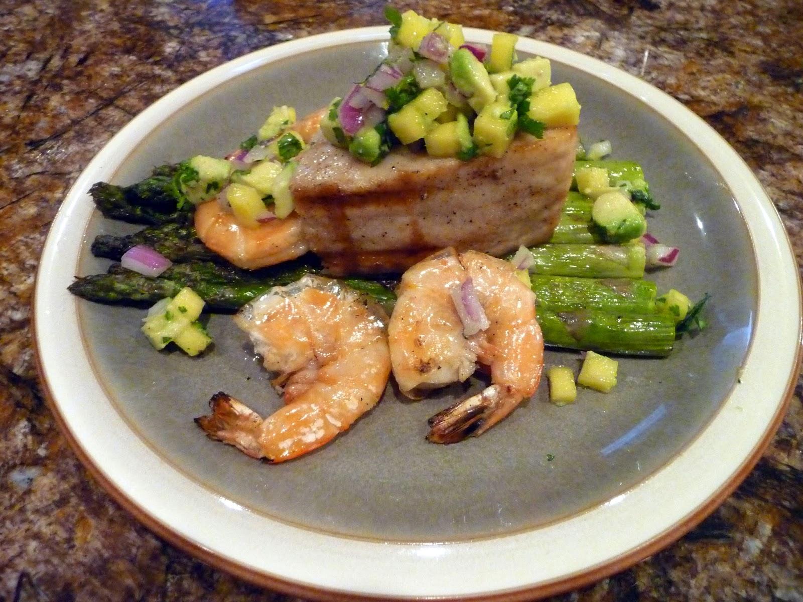 Chef bolek grilled opah garlic shrimp and avocado mango for Opah fish recipes