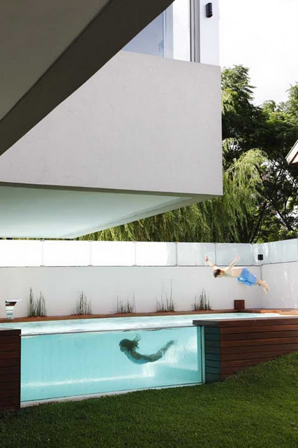 GLASS WALL POOL PISCINAS CON PARED DE VIDRIO O PARED DE CRISTAL by piscinasalbercas.blogspot.com
