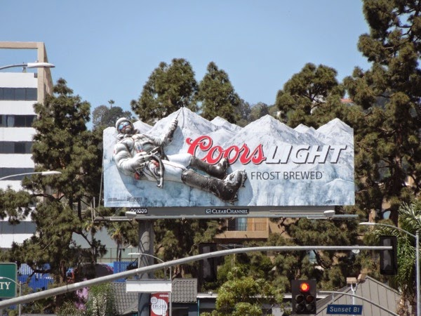 Special Coors Light 3D mountain climber billboard