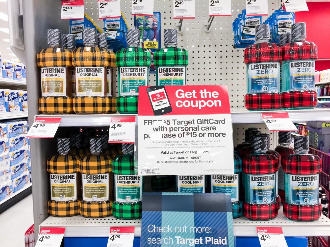 listerine limited addition plaid bottles 2015