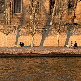 Winter afternoon along the Quais, Paris, France