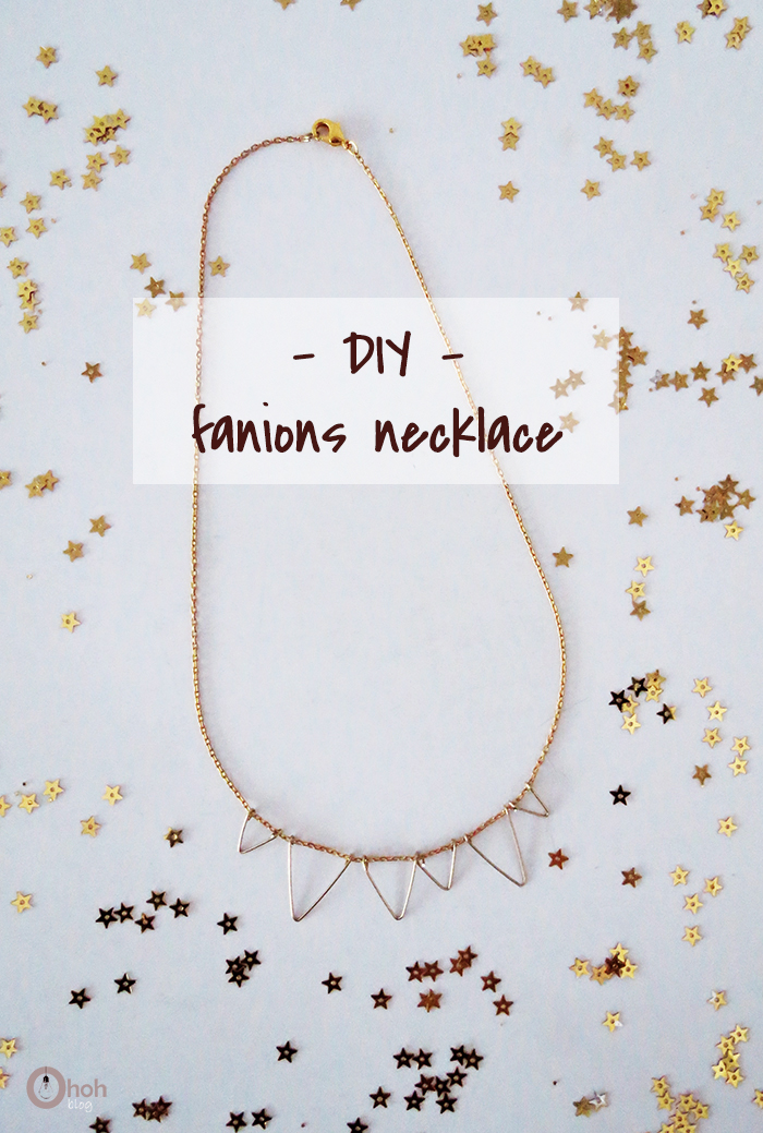 DIY fanion necklace