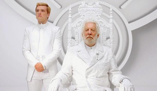 Peeta Mellark and President Snow