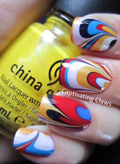 captivating claws tie dye inspired