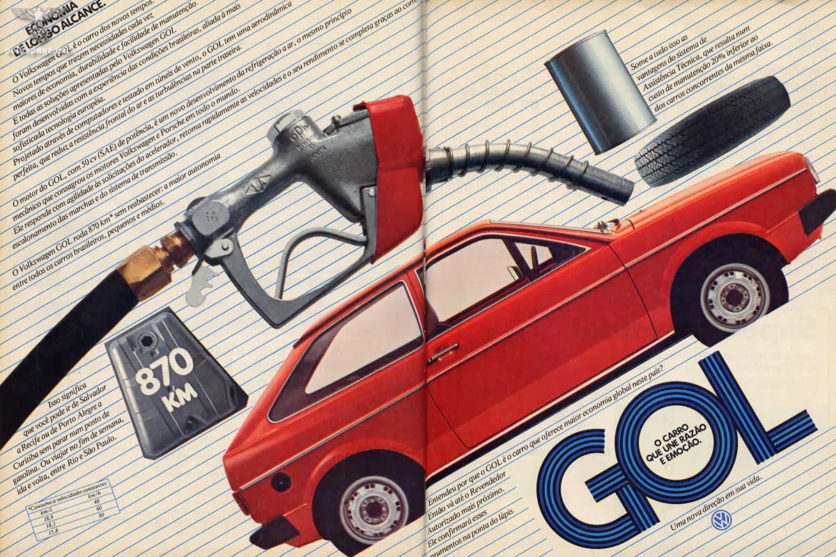 Primeira propaganda do Gol (Volkswagen) de 1980.