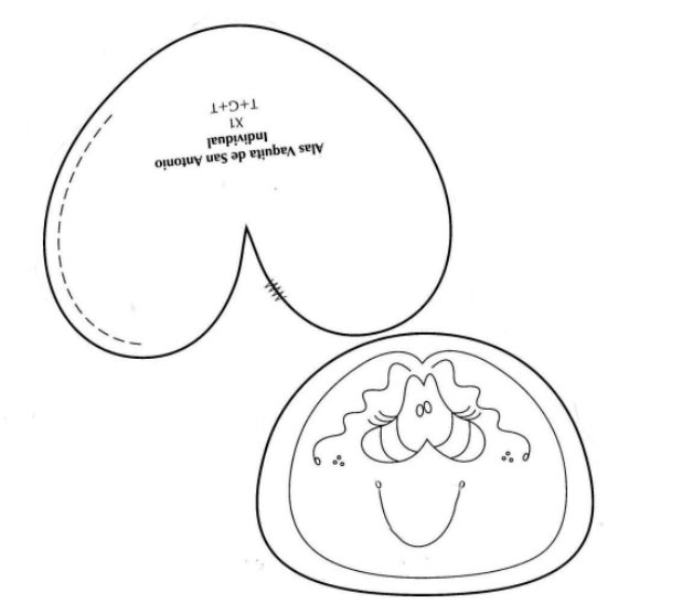 Moldes infantiles de vaquitas tiernas para imprimir - Imagui
