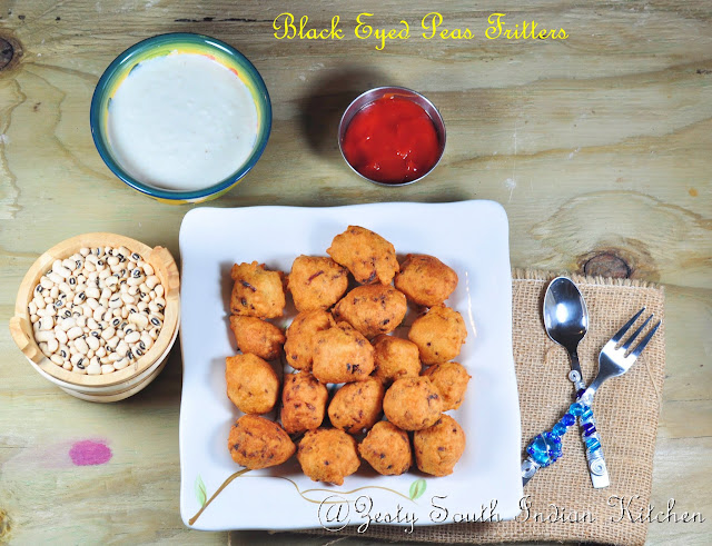 Black Eyed Peas Fritters/ Akara/Accara - Zesty South Indian Kitchen