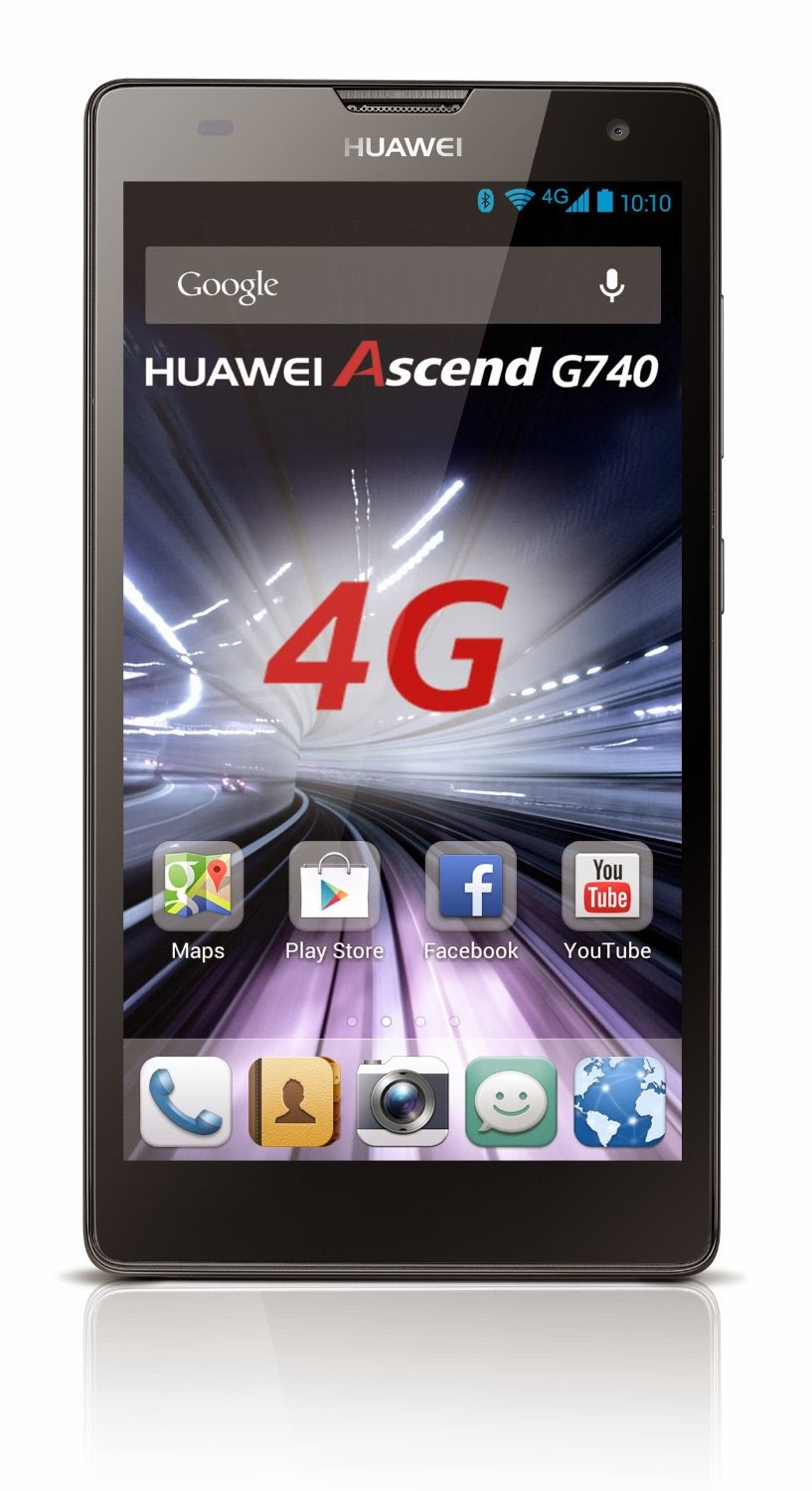 Smartphone Huawei 4G Ascend G740 Gris
