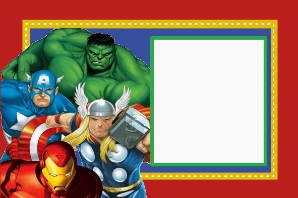 Vengadores: Invitaciones, Tarjetas, Marcos de Fotos o Etiquetas.