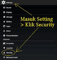 cara instal file apk ke android
