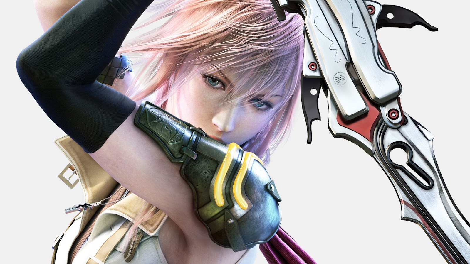 Final Fantasy Character Serah Farron Archer Realistic 3D Graphic HD Wallpaper
