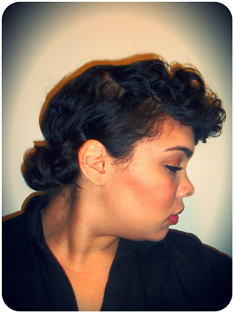 around the way curls, rod set, natural hair, updo, curly hair