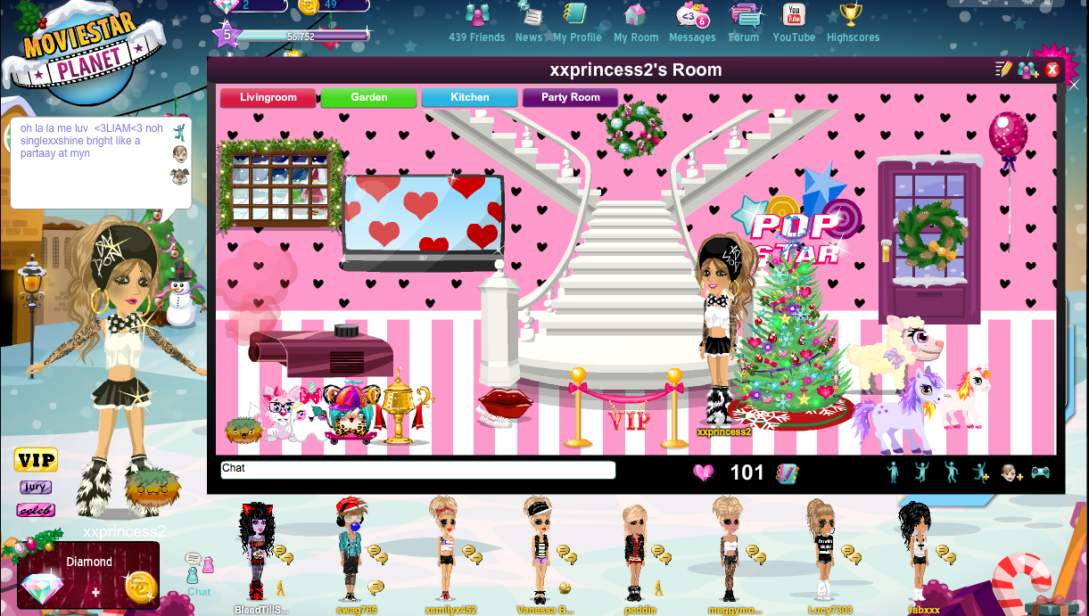 ME(XXPRINCESS2) ON MOVIESTARPLANET!!