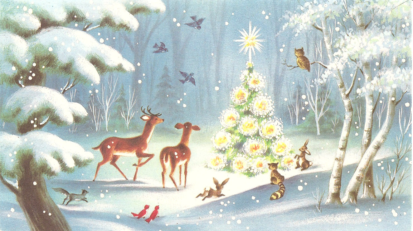 nannys christmas cards animal christmas - Animal Christmas Cards