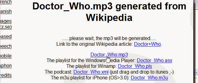 Cara Membuat MP3 Dari Artikel Wikipedia