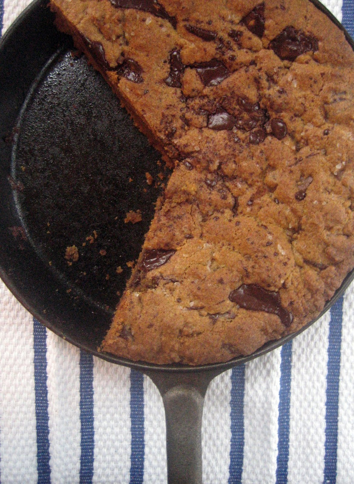 Blue Kale Road: Whole Wheat Chocolate Chip Skillet Cookies