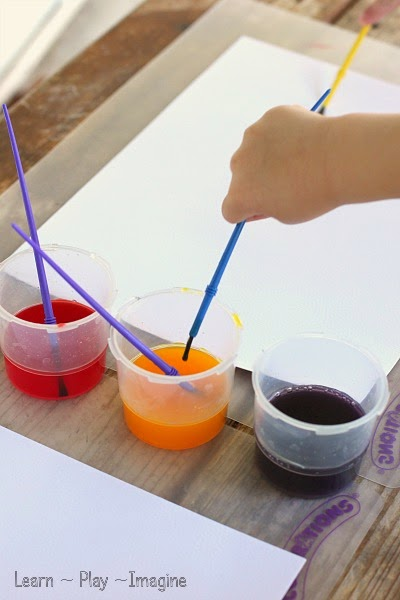 Painting with homemade watercolors