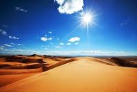 paisaje de un desierto soleado