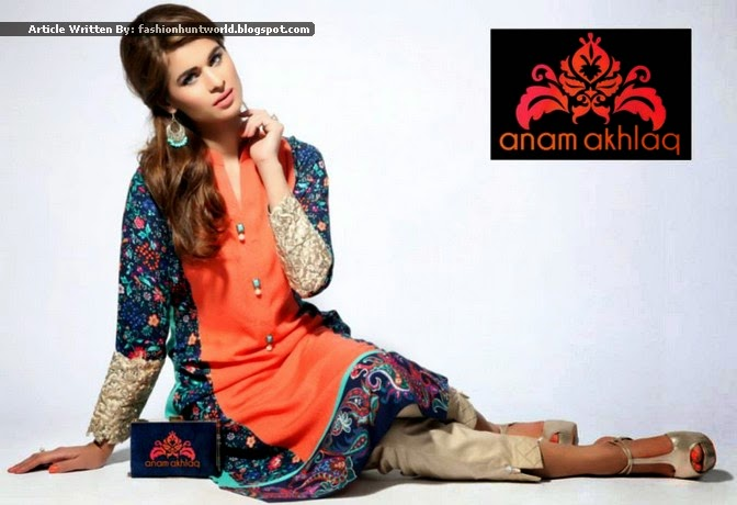 Anam Akhlaq Latest 2015 2016 Pakistani Casual Semi Formal Wear