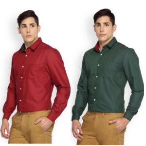 Amazon : Buy Brooklyn Blues Men's Shirts and Get At flat 50% or 70% off from Rs. 209 – Buytoearn