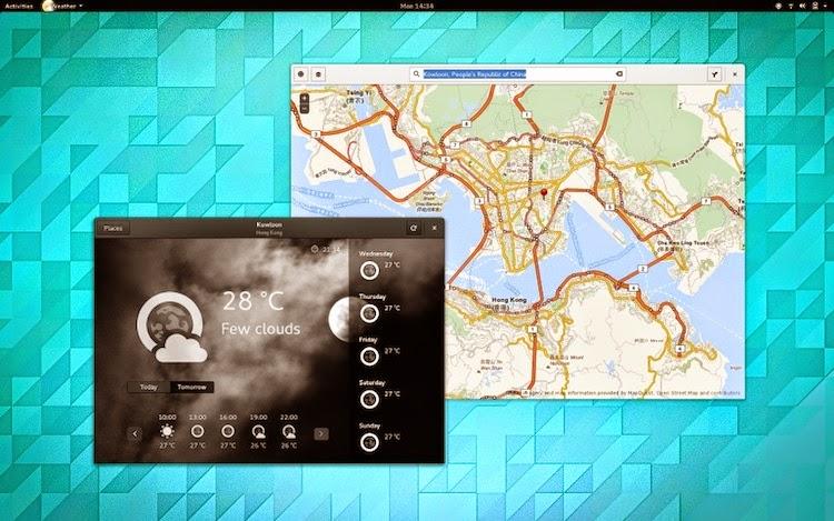 Gnome Weather e Gnome Maps