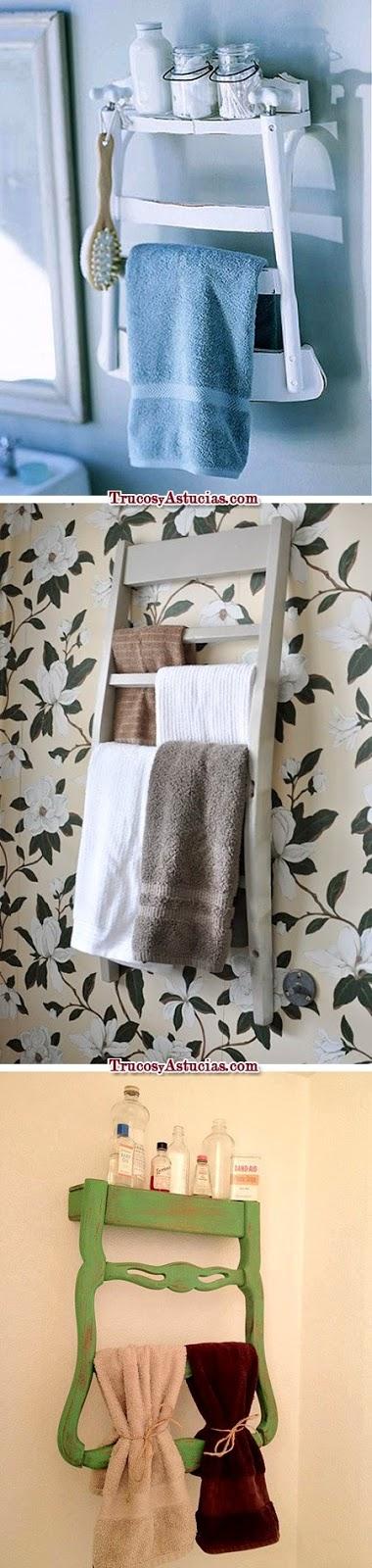 Reciclar sillas en toalleros
