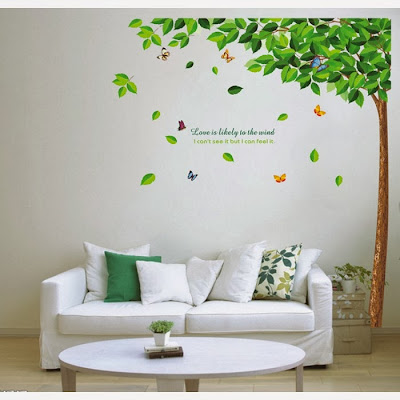gorgeous, tree, colorful, butterflies, trees, branches wall, sticker, flower, decals vinyl, art
