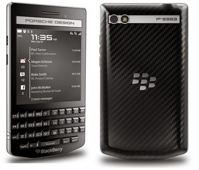 Harga Spesifikasi Blackberry Porsche P9983, Ponsel Premium Harga Selangit