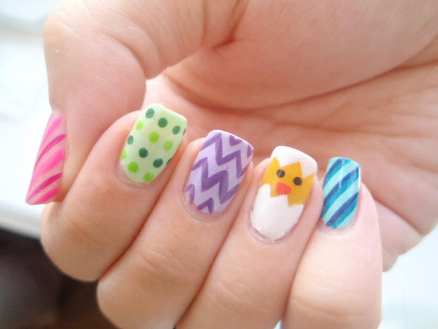lin's lacquer easter egg nails