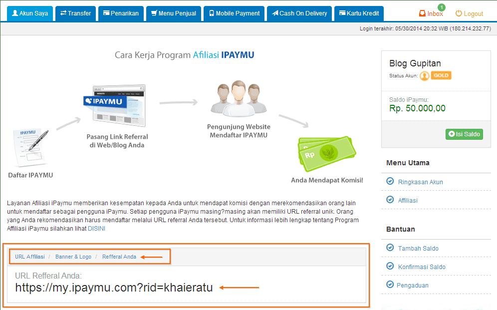 Cara Mendapatkan Uang dari iPaymu 3