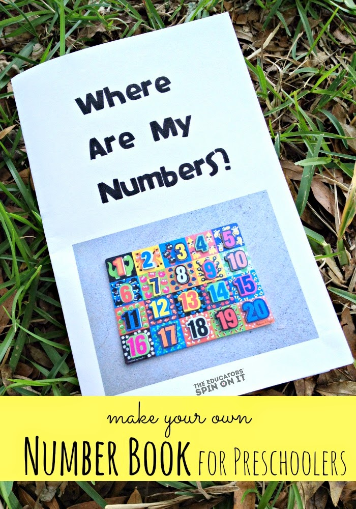 Make Your Own Number Book for Preschoolers from The Educators' Spin On It