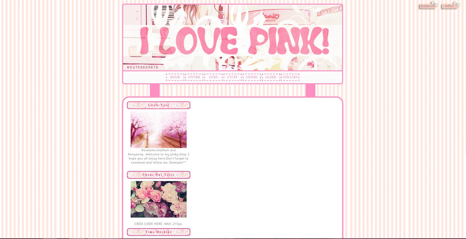 pinkypromise Tutossz: Plantillas/Templates para Blogger Kawaii ❤❤