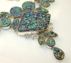 Titanium Druzy Necklace - Ebay