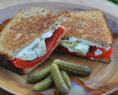 Artichoke & Pepper Grilled Cheese