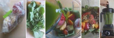 Zubereitung Grüner Smoothie mit Wosun und Obst