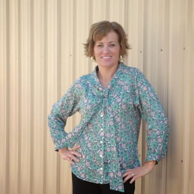 Mood Fabric's Anna Sui print blouse