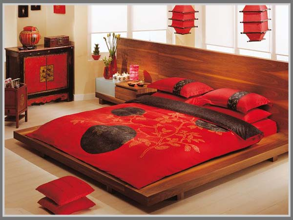 Bedroom design with oriental style get a unique rooms