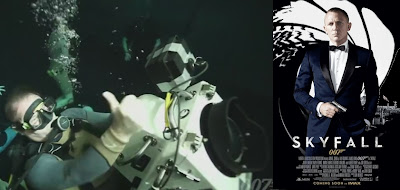 James bond goes underwater for Skyfall!