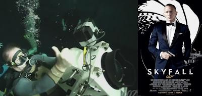 James bond gaat onder water voor Skyfall!
