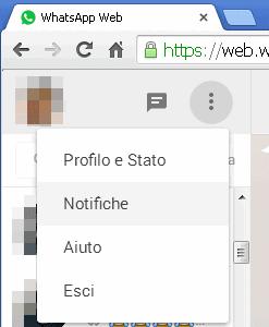 WhatsApp Web su PC gestire profilo e notifiche