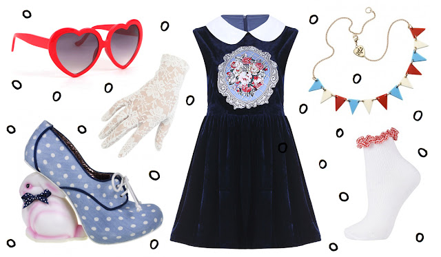 Bunny, Irregular Choice, Outfit, Tatty Devine, Heart glasses