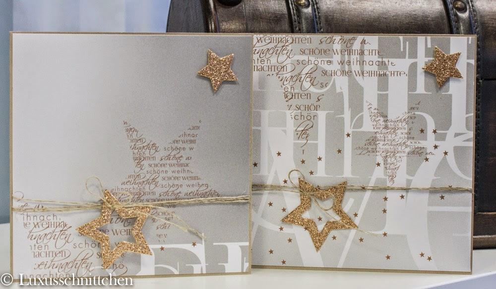 Weihnachtskarte Scrapbooking Alexandra Renke