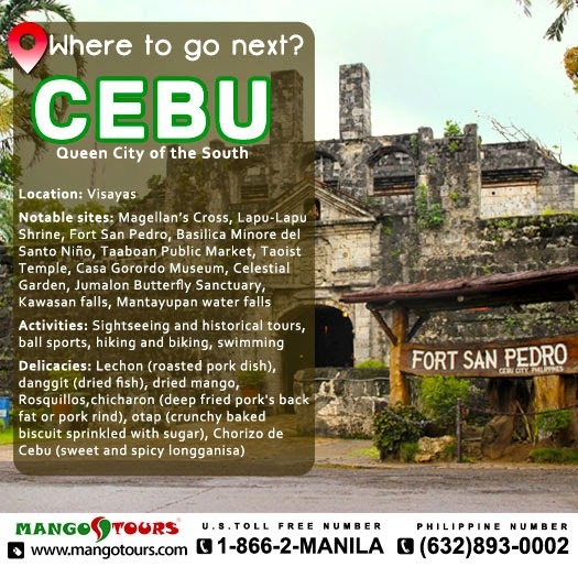 Mango Tours Where to go next: Cebu