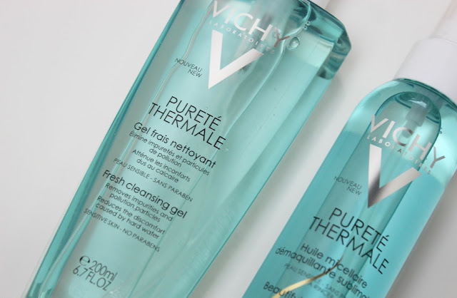 A picture of Vichy Purete Thermale Beautifying Cleansing Micellar Oil and Fresh Cleansing Gel